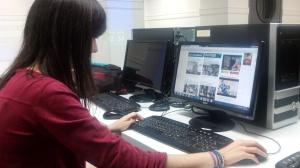 Laura estuvo el pasado verano en El Periódico de Aragón